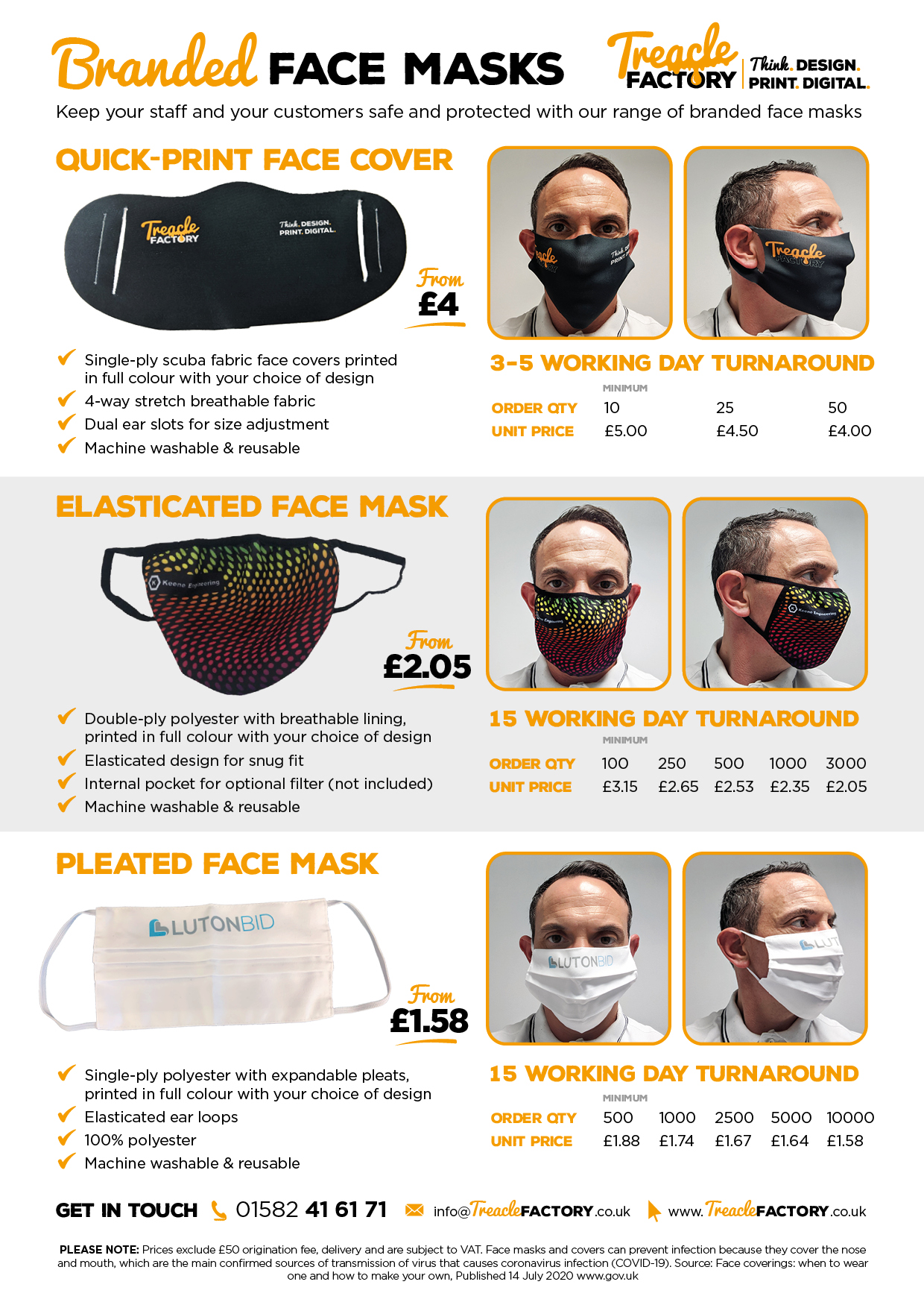 Branded Face Masks